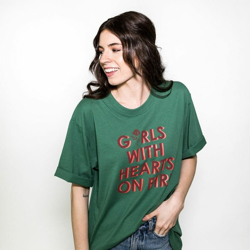 Girls with Hearts on Fire Tee (Green)