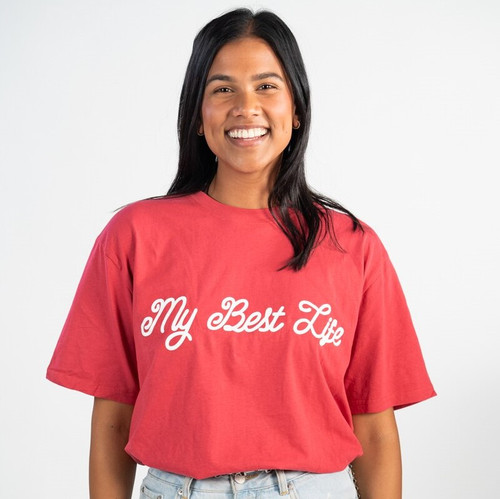 My Best Life Tee (Red)