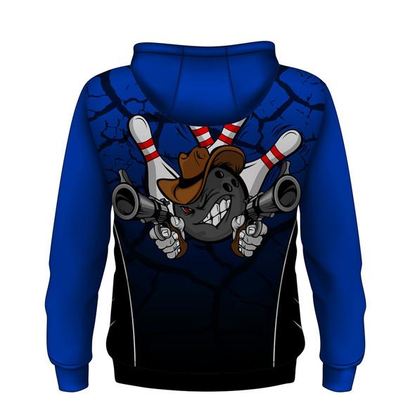 Gunslinger Blue Hoodie