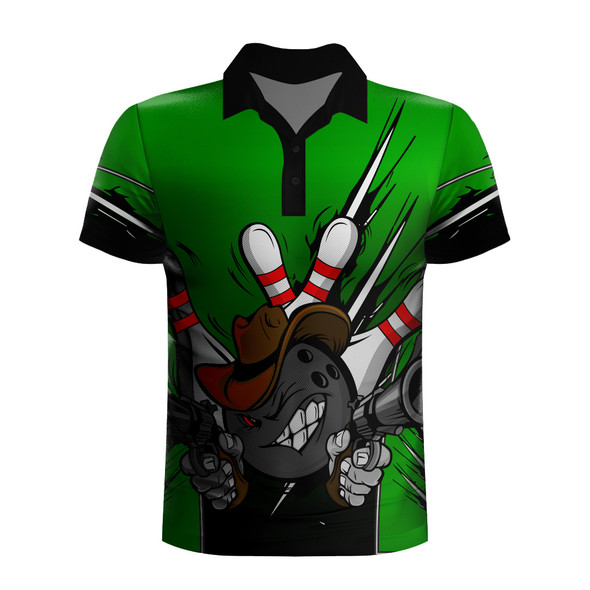 Gunslinger Green XL Polo (S)