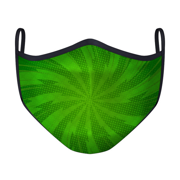 Comic Spiral Green Mask
