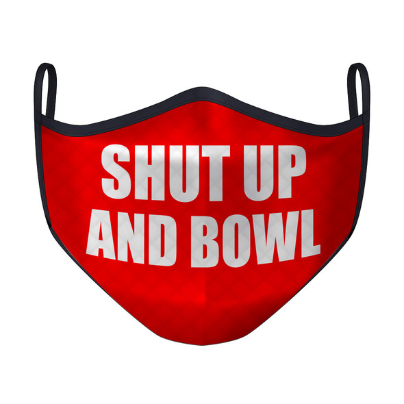 Shut Up and Bowl Red Mask