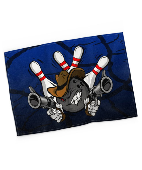 Gunslinger Bowling Blue Towel