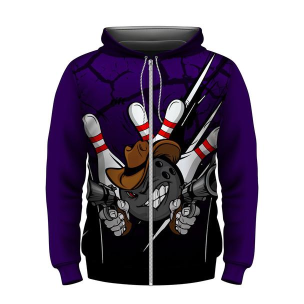 Gunslinger Purple Hoodie
