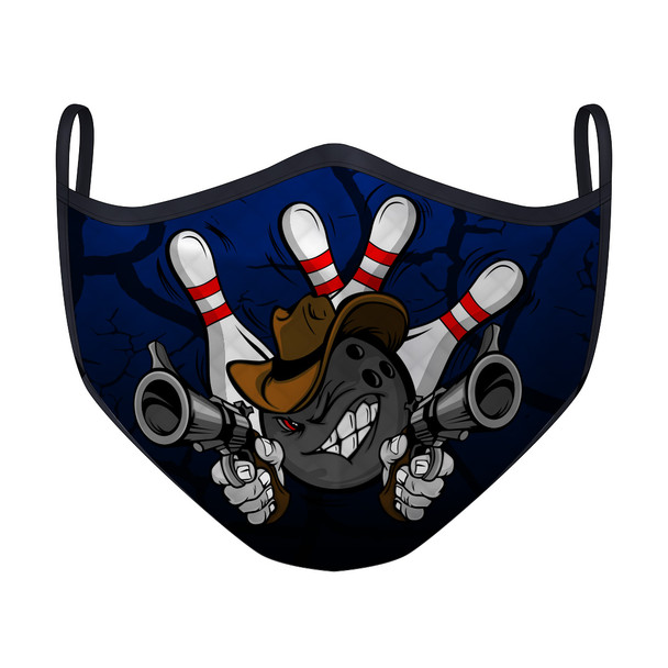 Gunslinger Bowling Blue Mask (Medium)