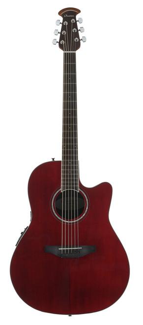 Ovation Celebrity Standard Mid-Depth Cutaway, Ruby Red Guitar  CS24-RR