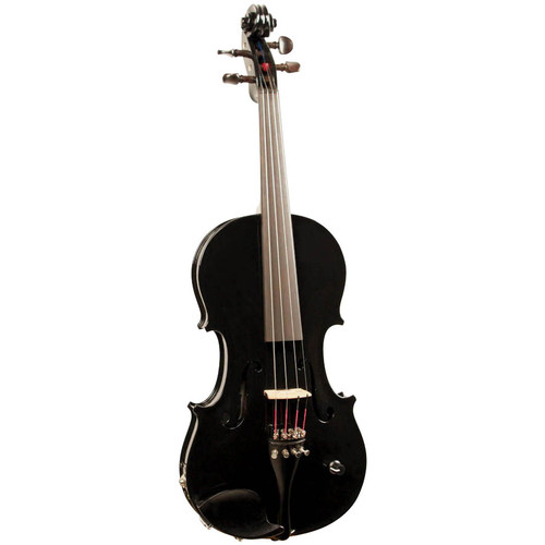 Barcus Berry Vibrato-AE Series Acoustic-Electric Violin Piano Black BAR-AEBK