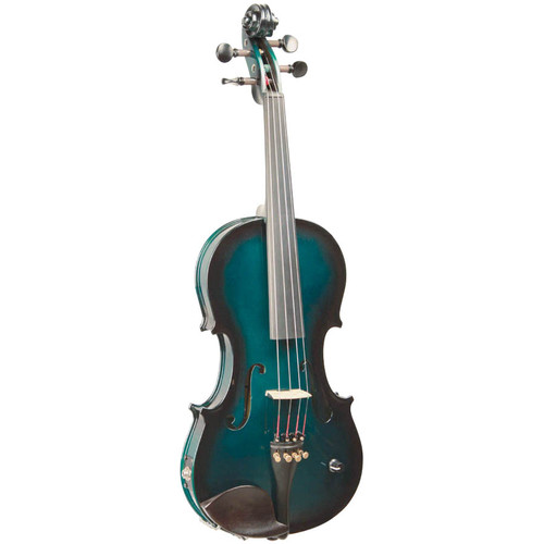 Barcus Berry Vibrato-AE Series Acoustic-Electric Violin Metallic Green BAR-AEG