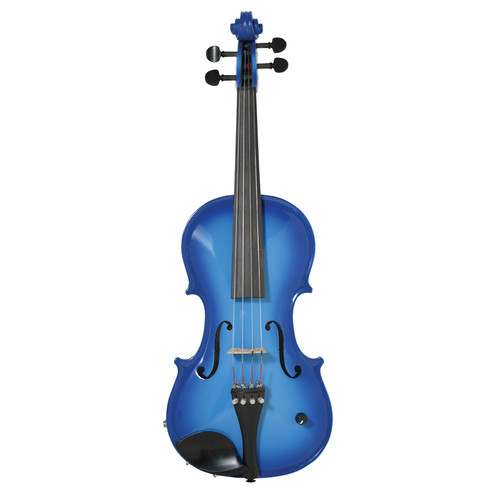 Barcus Berry Vibrato-AE Series Acoustic-Electric Violin Blue BAR-AEVB