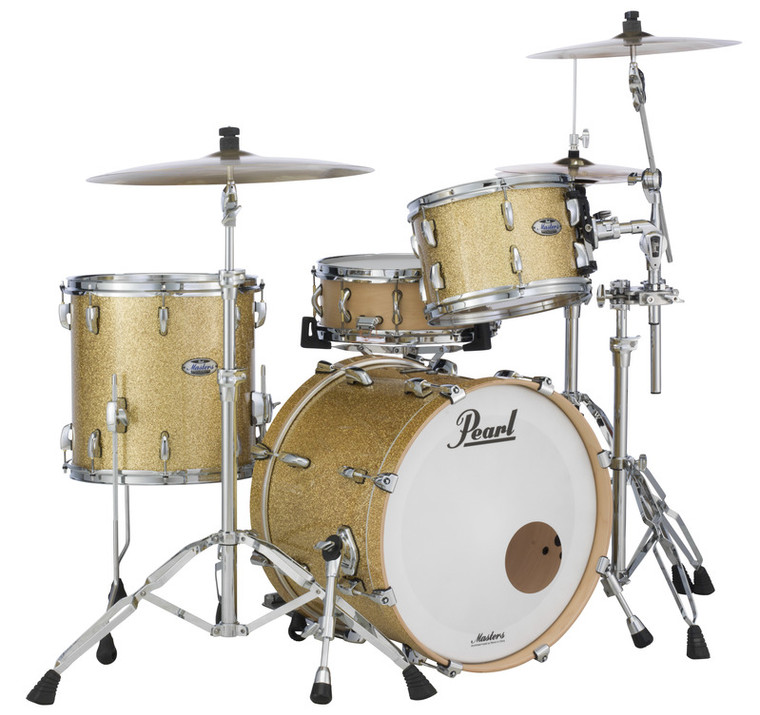 MCT903XP/C347 Pearl Masters Maple Complete 3-pc. Shell Pack BOMBAY GOLD SPARKLE