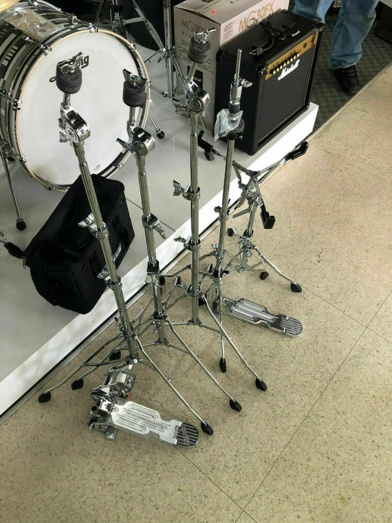 Rogers Dynomatic Swan leg Hardware Pack Six Piece With Pedal Bag
