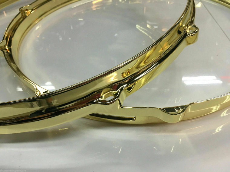 ludwig die cast hoops gold brass