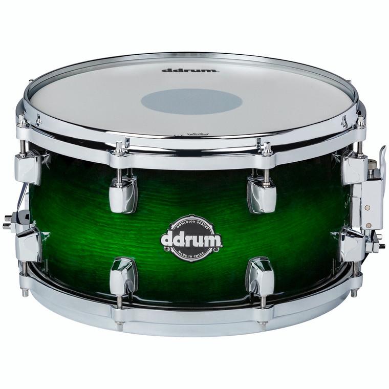 ddrum Dominion Series 7x13 Green Burst Snare Drum