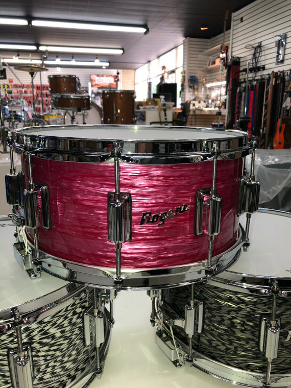Rogers Dyna-Sonic Red Ripple 6.5x14 USA Snare Drum New 2020 First Production Run