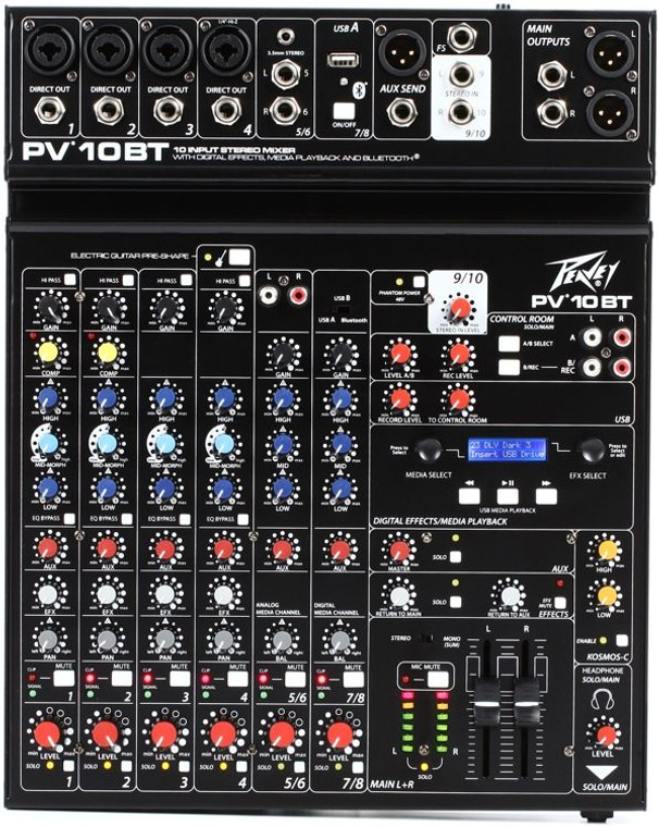 Peavey PV® 10 BT Compact Mixer with Bluetooth
