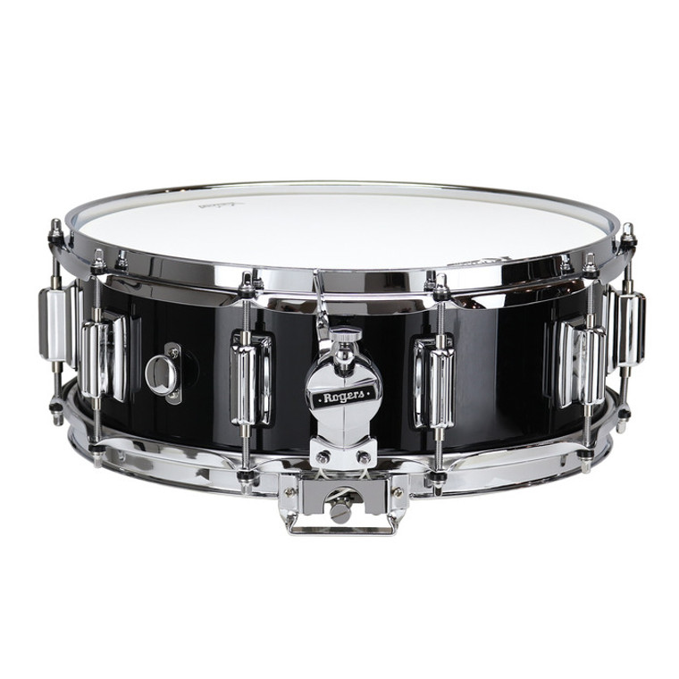 """Rogers Dyna-Sonic Black Lacquer 5"""" x 14"""" Classic Snare Drum"""