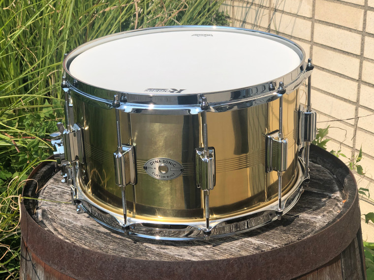 Rogers brass Dynasonic Snare Drum