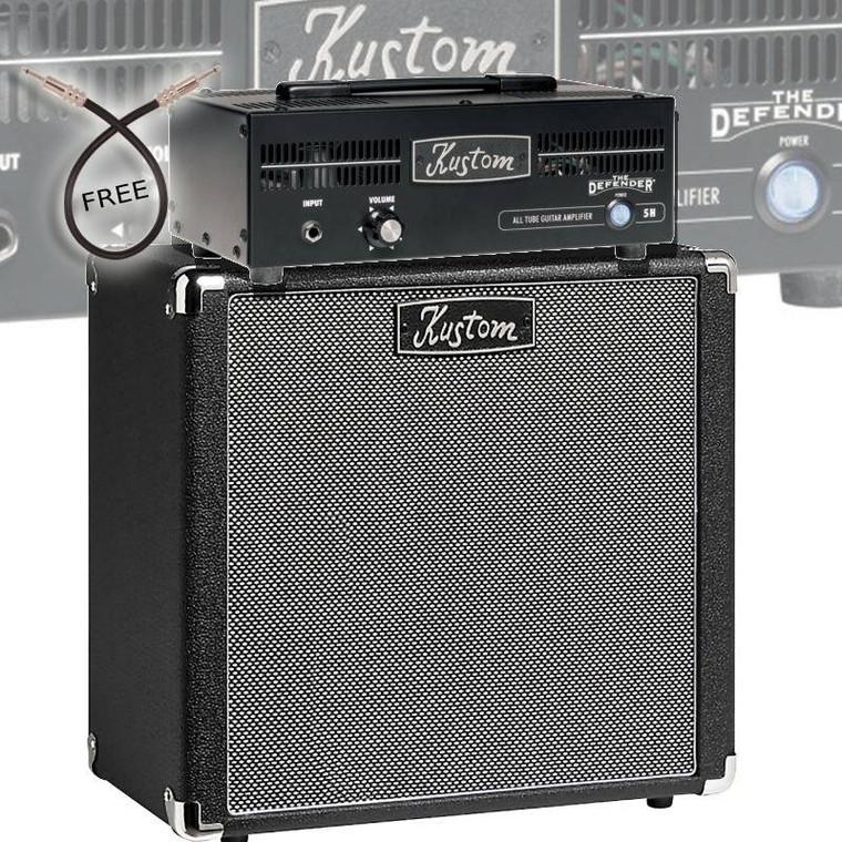 Kustom Defender 5w Guitar Amplifier Head with 1x12 Speaker Cabinet