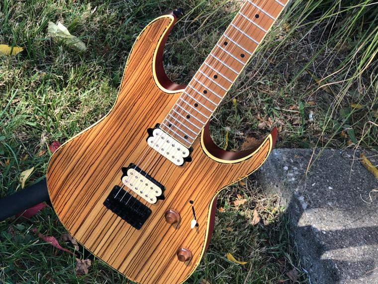 Ibanez RG Zebrawood Natural Flat Electric Guitar  RGEW521MZW