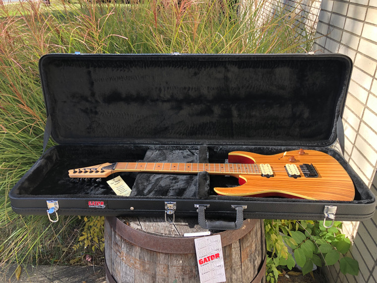 Ibanez RG Standard Zebrawood Natural Flat Electric Guitar with Hard Case RGEW521