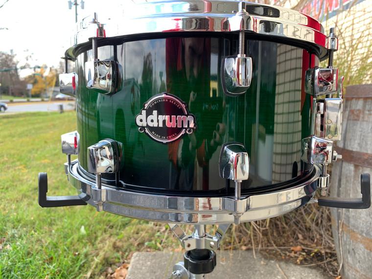 ddrum Dominion Series 7x13 Green Burst Snare Drum -