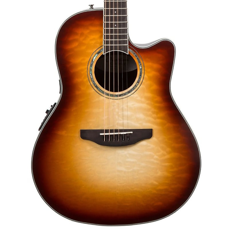 Ovation CS24X-7C Celebrity Standard Exotic Mid Depth Guitar - Cognac Burst