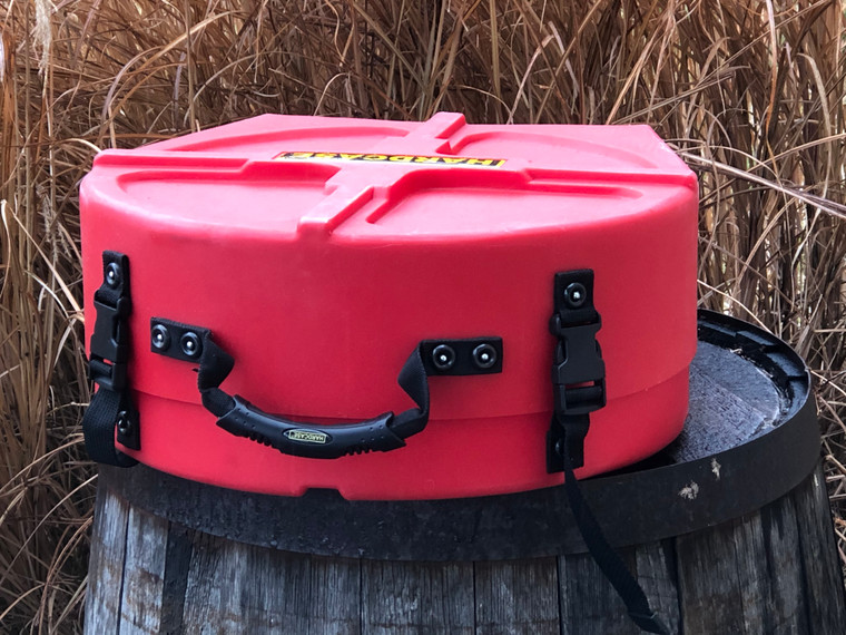 "HARDCASE 14"" Snare Drum Case Universal Fit Red HNP14SDG - Open Box"