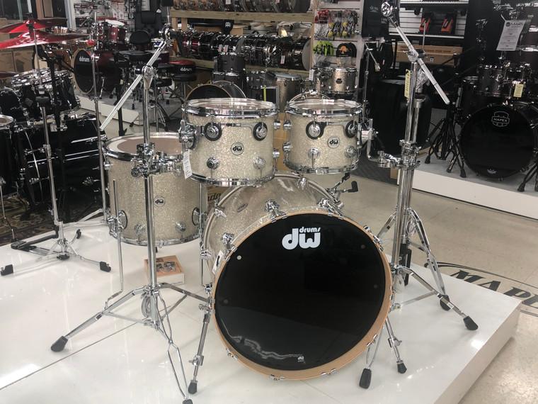 DW Drum Workshop Collectors Series Pure Maple Drum Set Broken Glass 4pc Shell Pack