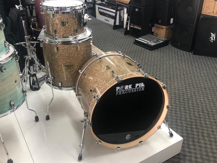 "2021 Pork Pie USA Custom Kit Bettis B20 Cymbal Glitter 3pc 22"" Drum Set"
