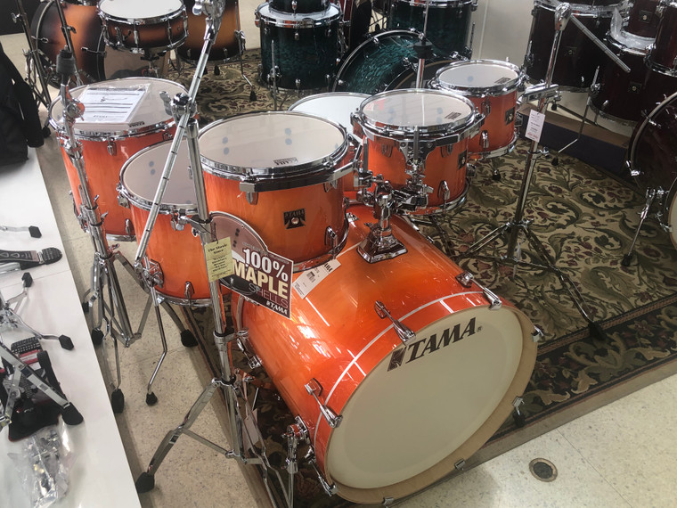 Tama Superstar Classic 7-piece Shell Pack with Snare Drum - Tangerine Lacquer Burst CL72STLB