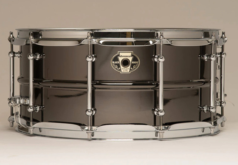 """Ludwig Black Magic 14"""" Brass Snare Drum Features:"""