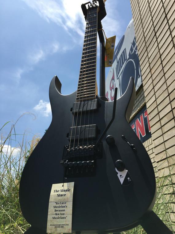 Dean Exile Select Floyd 6 String Fluence Black Satin Electric Guitar - EXILE F FL BKS
