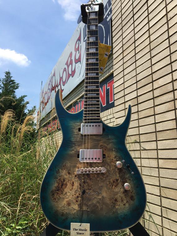 Dean Exile Select Burled Poplar Satin Turquoise Burst Electric Guitar