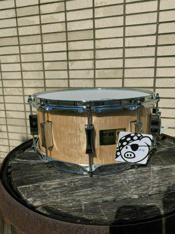 Pork Pie 6.5x14 Natural Curly Maple Snare Drum #4 of 4 - LAST CHANCE