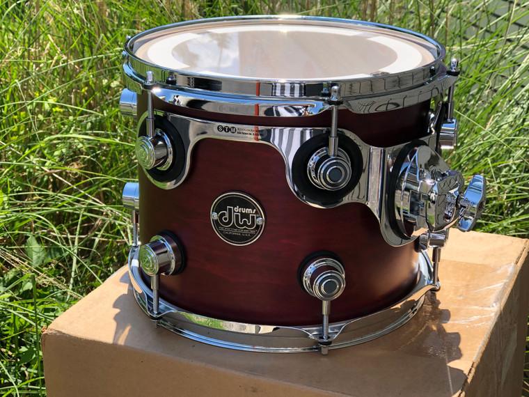 DW Performance tom drum 8x10 Tobacco Stain w/ Mount DRPS0810STTB