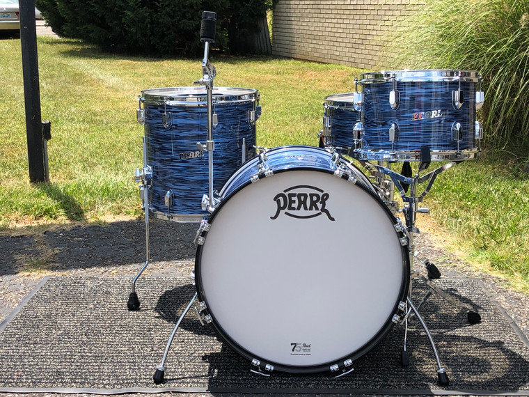 """Pearl President Series Deluxe PSD903XP/C 3-piece 20"""" Shell Pack - Ocean Ripple"""