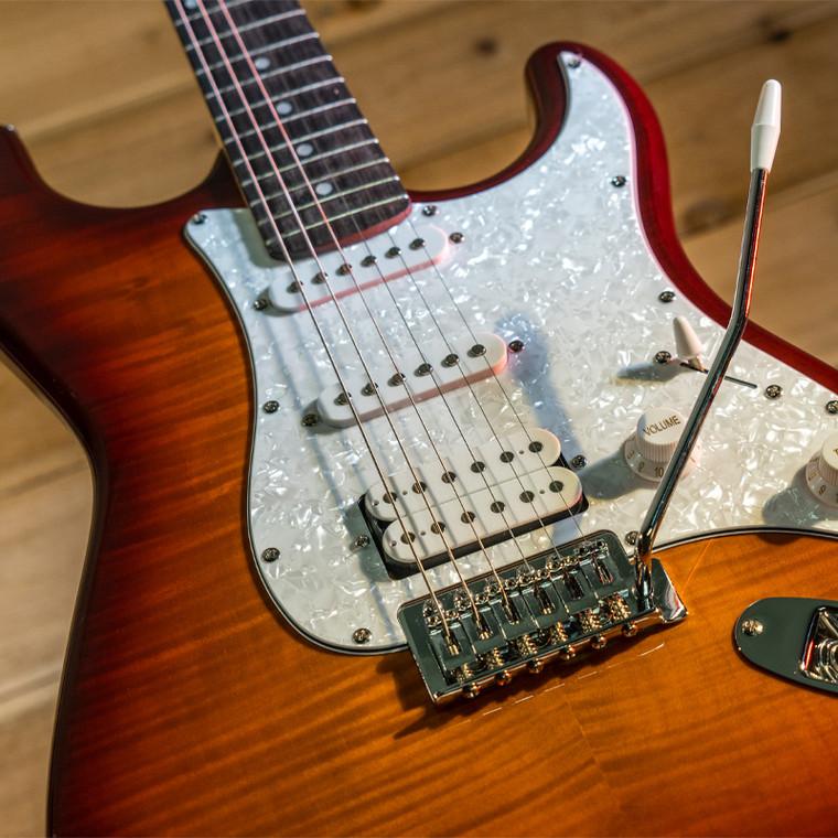 Washburn Sonamaster Deluxe 6 String HSS Electric Guitar - Sunburst