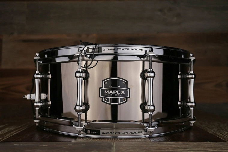 Mapex Armory 14 Inch X 5.5 Inch Tomahawk Snare Drum Black Chrome ARST4551CEB