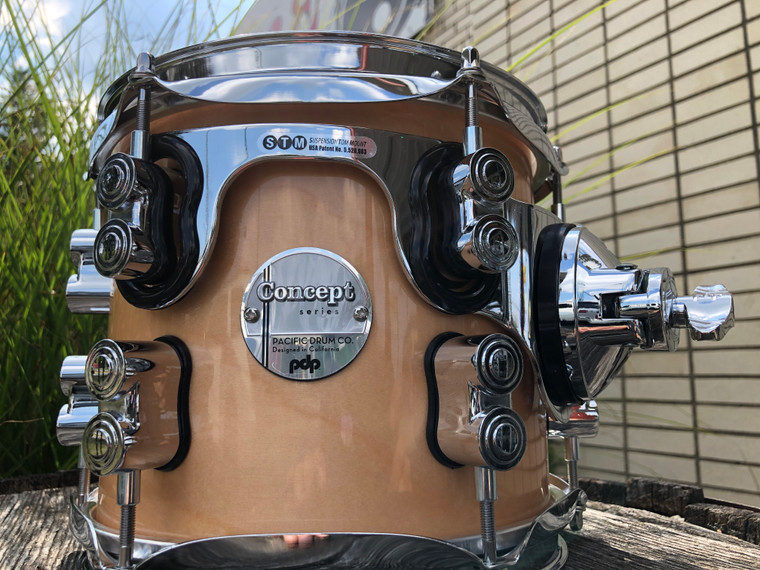 New PDP Concept Series Maple Suspended Rack Tom Drum 7x8, Natural Lacquer PDCM0708STNA - Open Box