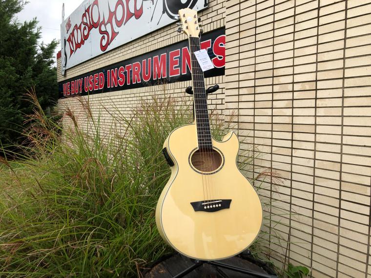 Washburn EA20 Festival Series Cutaway Acoustic Electric Guitar Natural EA20-A
