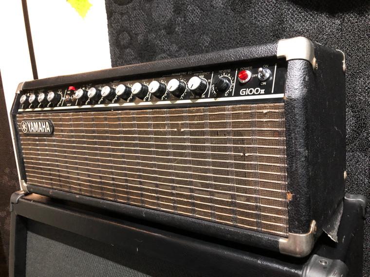 Vintage Yamaha Amp G100 II Solid State 100 Watt Electric Guitar Amplifier Head Nippon Gakki Japan