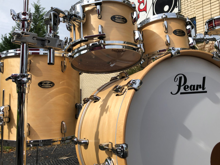 Pearl Masters Maple / Gum Drum Set 4pc Shell Pack Hand Rubbed Natural Maple Lacquer MMG924XSP/C186