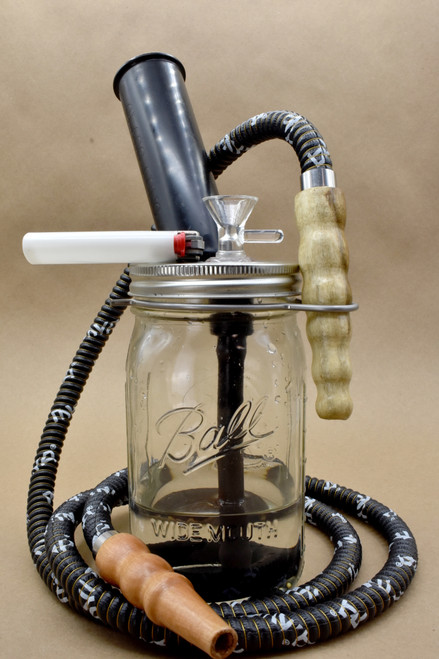Stoned Mason Pipe + Hookah Style (quart jar)