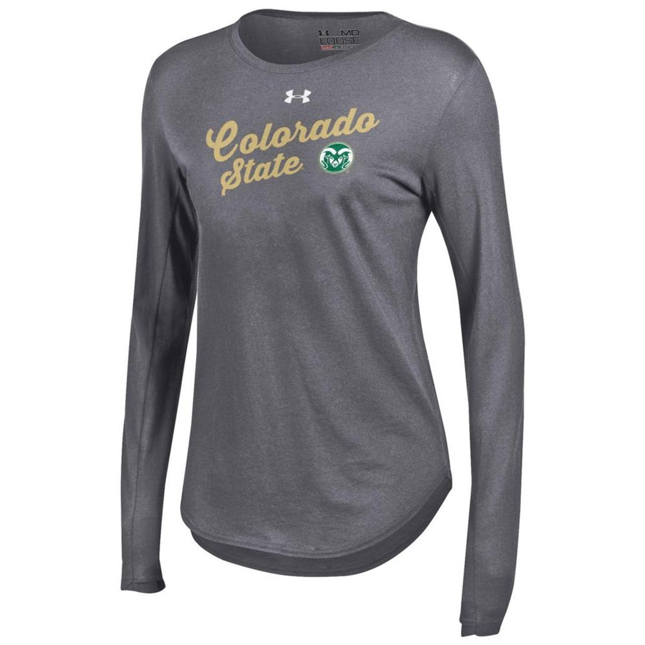 Women's Long Sleeve Colorado State Rams Under Armour Baseball Tee