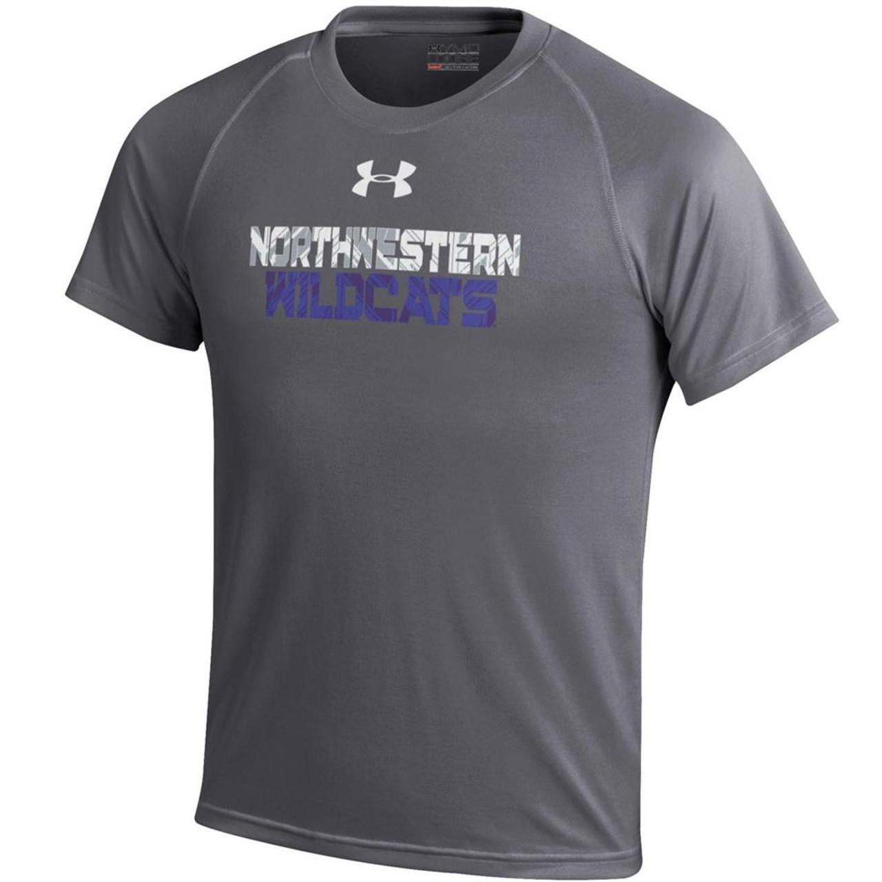 Boy's NuTech Short Sleeve Northwestern University Under Armour Tee