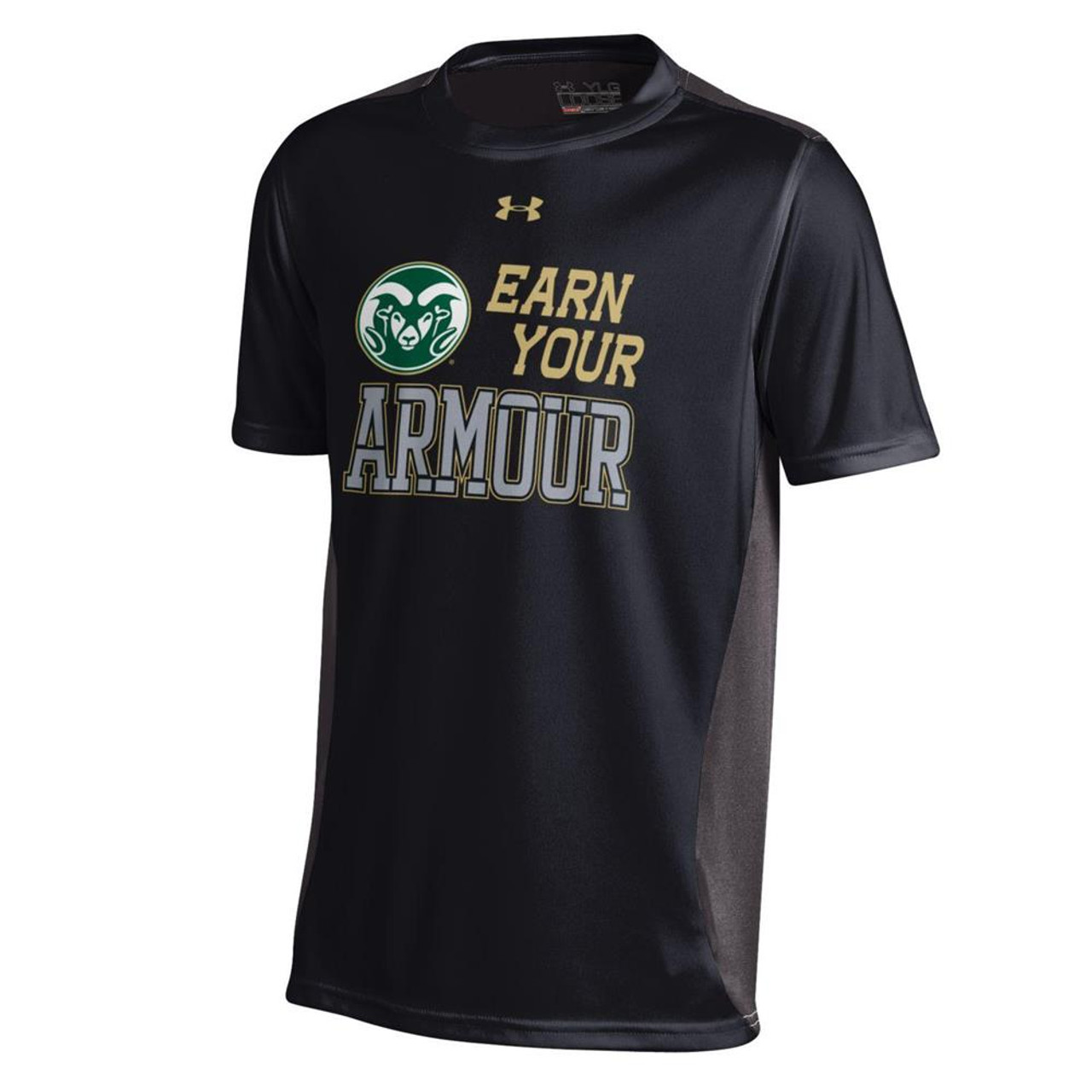 Youth Under Armour Colorado State Rams Colorblock Tee