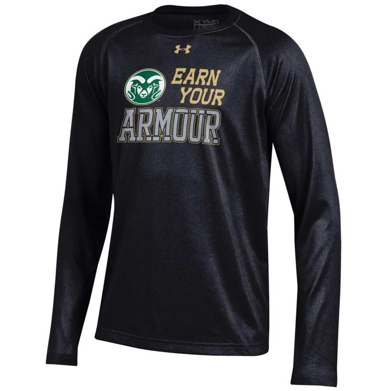 Youth Under Armour Colorado State Rams Tech Long Sleeve Tee