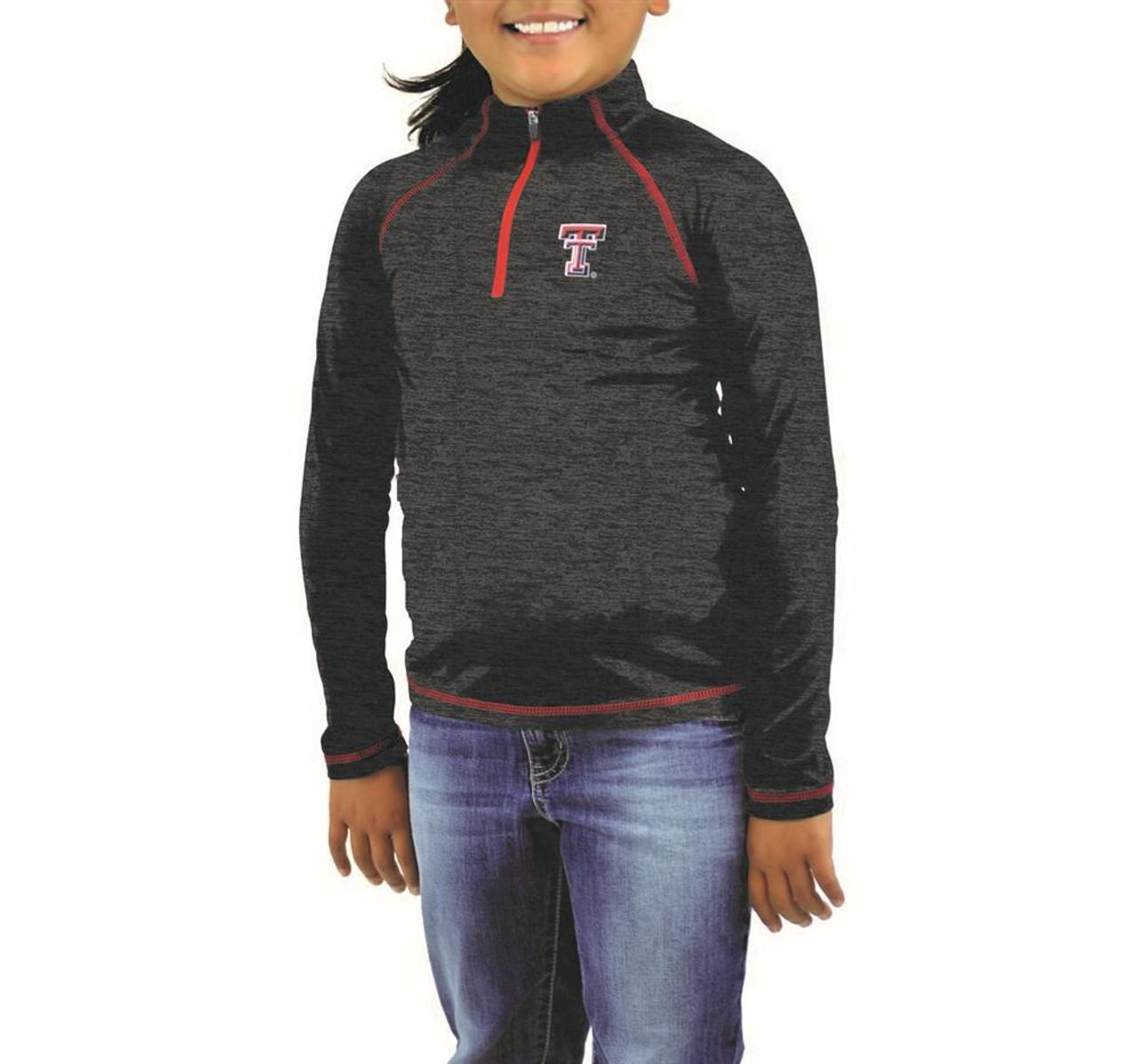 Girls Quarter Zip Tennessee Volunteers Vols UT Long Sleeve Windshirt