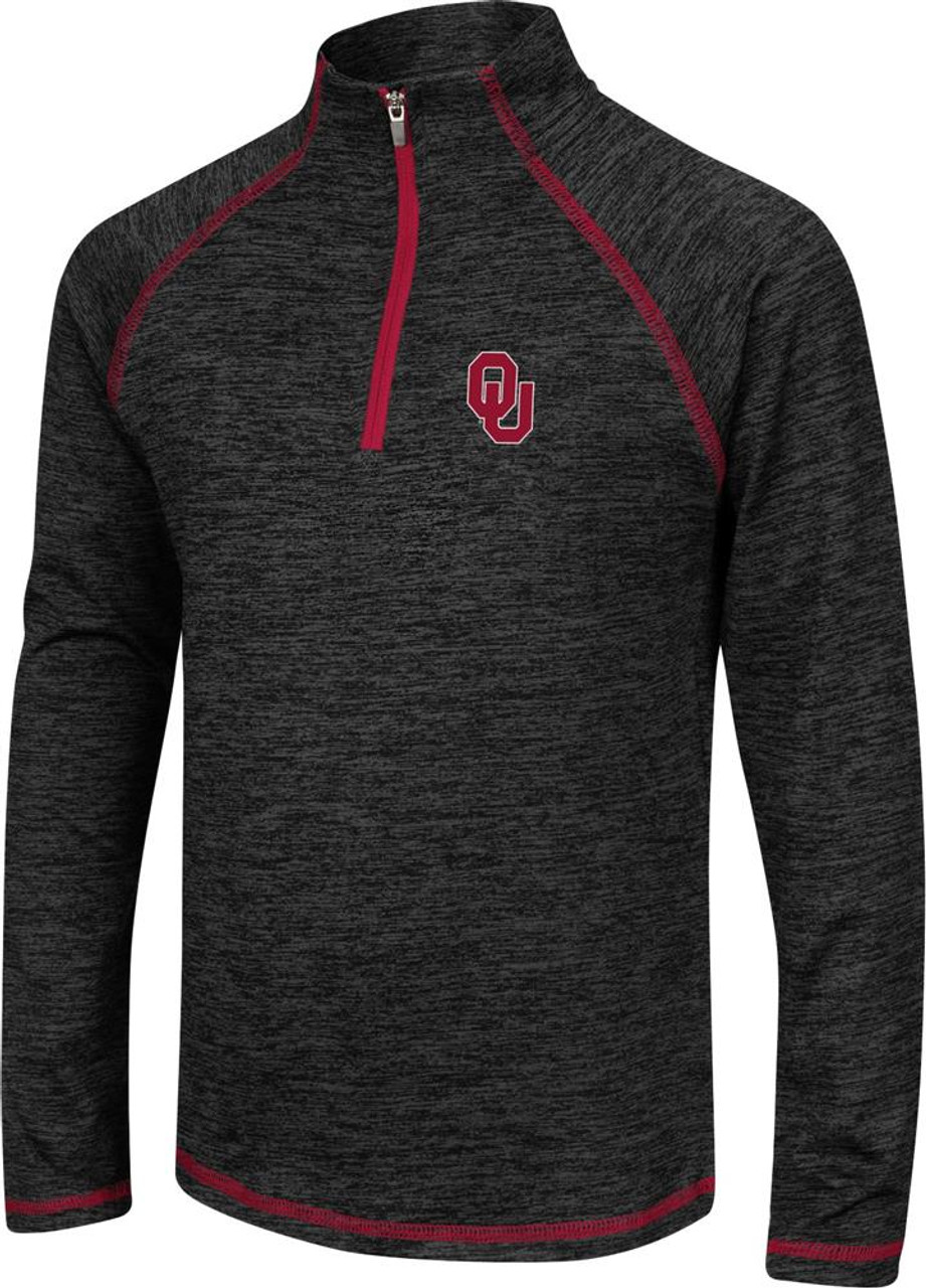 Girls Quarter Zip University of Oklahoma Sooners Long Sleeve Windshirt