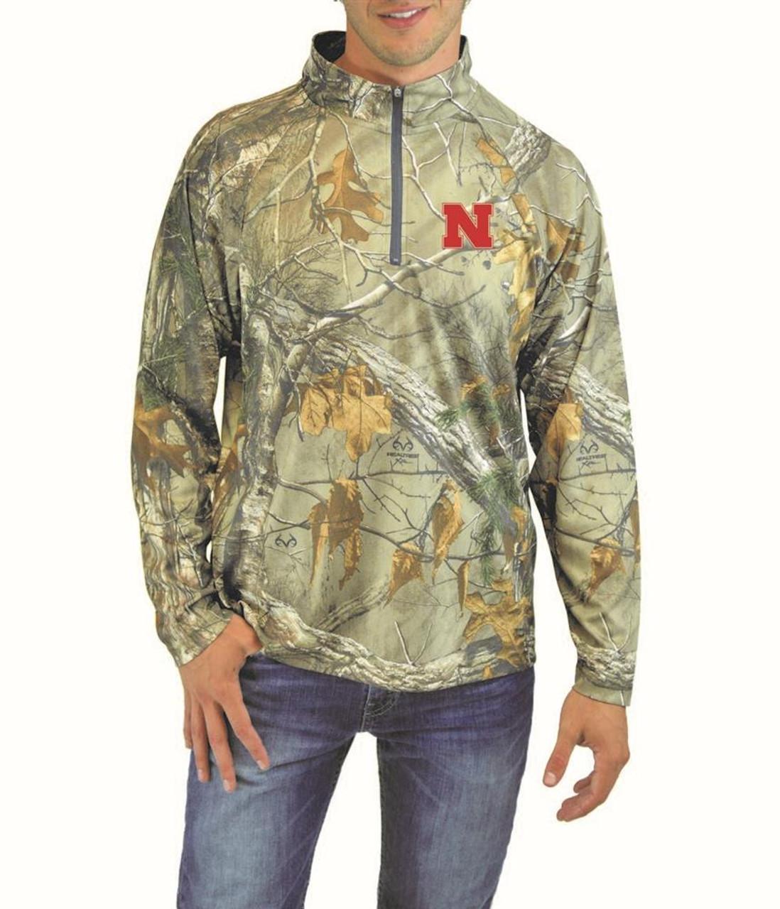 Men's Realtree Quarter Zip Michigan State University Windshirt